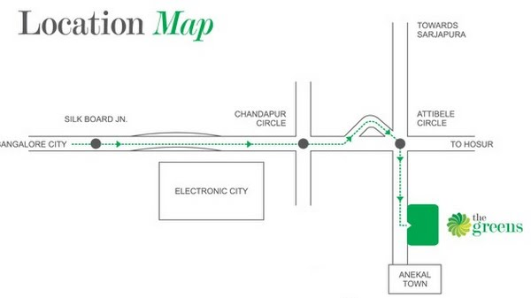 Photo - Indya Estates The Greens Location Map